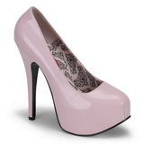 rosa lakk 14,5 cm BORDELLO TEEZE-06 platå pumps høy hæl
