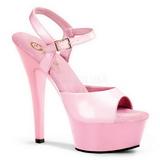 rosa lakk 15 cm Pleaser KISS-209 platå høye hæler sko