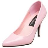 rosa lakkert 10 cm VANITY-420 dame pumps sko flate hæl