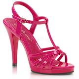 rosa lakkert 12 cm FLAIR-420 dame sandaletter lavere hæl