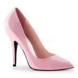 rosa lakkert 13 cm SEDUCE-420 dame pumps sko flate hæl