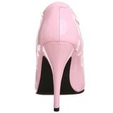 rosa lakkert 13 cm SEDUCE-420 spisse pumps med høye hæler