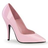 rosa lakkert 13 cm SEDUCE-420V spisse pumps med høye hæler