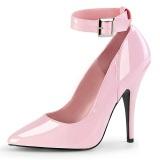 rosa lakkert 13 cm SEDUCE-431 høye stilett pumps til menn