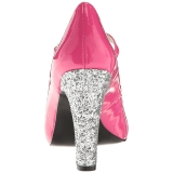 rosa lakklær 10 cm QUEEN-02 store størrelser pumps sko