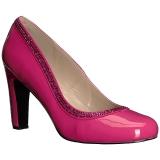 rosa lakklær 10 cm QUEEN-04 store størrelser pumps sko