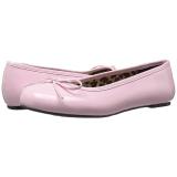 rosa lakklær ANNA-01 store størrelser ballerina sko