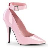 rosa lakkpumps 13 cm SEDUCE-431 Ankel stropp pumps med stiletthæl