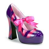 rosa lilla 13 cm KITTY-32 høye damesko med hæl