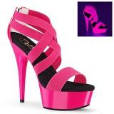 rosa neon 15 cm DELIGHT-669UV pole dancing sko