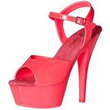 rosa neon 15 cm Pleaser KISS-209UV platå høye hæler sko