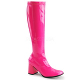 rosa neon 8,5 cm FUNTASMA GOGO-300UV høye støvler dame