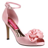 rosa satin 9,5 cm ROSA-02 dame sandaletter lavere hæl