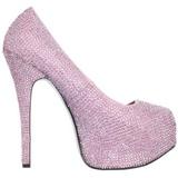 rosa strass 14,5 cm Burlesque TEEZE-06R høye platform pumps sko