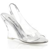 sølv 10,5 cm LOVELY-450 wedge sandaler med kilehæl