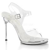 sølv 11,5 cm CHIC-08 sandaletter med stiletthæl
