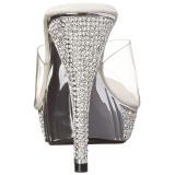 sølv 11,5 cm ELEGANT-401 strass steiner platå slip ins dame