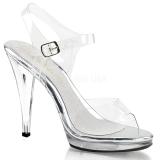 sølv 11,5 cm FLAIR-408 dame sandaletter lavere hæl