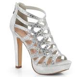 sølv 11,5 cm Pleaser SELENE-24 sandaler med høye hæler