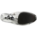 sølv 15 cm DELIGHT-1017RSF høye ankelstøvletter med frynser til dame