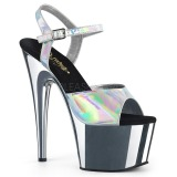 sølv 18 cm ADORE-709HGCH hologram platå høye hæler dame