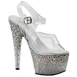 sølv 18 cm STARSPLASH-708 stjerners platå høye hæler sko