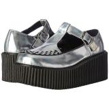 sølv CREEPER-214 platå creepers sko til kvinners
