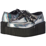sølv CREEPER-218 platå creepers sko til kvinners
