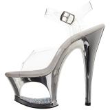 sølv gjennomsiktig 18 cm MOON-708DMCH platå høye hæler sko