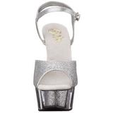 sølv glinser 15 cm DELIGHT-609-5G høye hæler damer sko