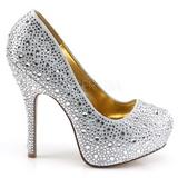 sølv glitrende steiner 13,5 cm FELICITY-20 damesko med høy hæl