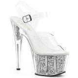 sølv glitter 18 cm Pleaser ADORE-708G pole dancing sko