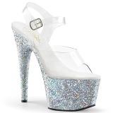 sølv glitter 18 cm Pleaser ADORE-708LG pole dancing sko
