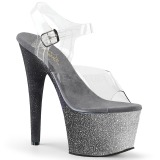 sølv glitter 18 cm Pleaser ADORE-708OMBRE pole dancing sko