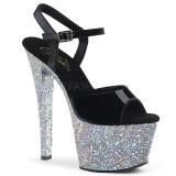 sølv glitter 18 cm Pleaser SKY-309LG pole dancing sko