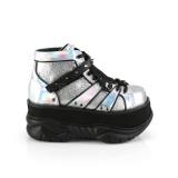 sølv kunstlær 7,5 cm NEPTUNE-100 platå gotisk sko til menn