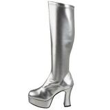 sølv lakk 11 cm Funtasma EXOTICA-2000 platå høye støvler