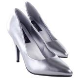 sølv matt 10 cm VANITY-420 dame pumps sko flate hæl