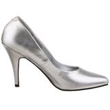 sølv matt 10 cm VANITY-420 spisse pumps med høye hæler