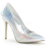 sølv matt 13 cm AMUSE-20 dame pumps sko stiletthæl