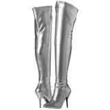 sølv matt 13 cm SEDUCE-3000 lårhøye støvler til menn