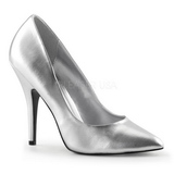sølv matt 13 cm SEDUCE-420 spisse pumps med høye hæler