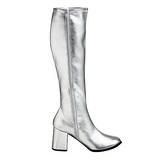 sølv matt 7,5 cm Funtasma GOGO-300 høye støvler dame