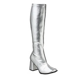 sølv matt 8,5 cm GOGO-300 høye damestøvler til menn