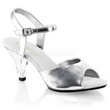 sølv matt 8 cm BELLE-309 high heels sko til menn