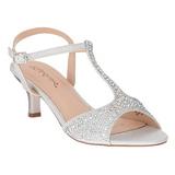 sølv strass 6,5 cm AUDREY-05 høye fest sandaler med hæl