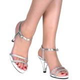 sølv strass steiner 8 cm BELLE-316 sko med høye hæler for menn