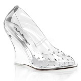 strass steiner 10,5 cm LOVELY-420RS wedge pumps med kilehæl