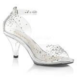 strass steiner 8 cm BELLE-330RS dame sandaler med hæl
