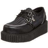 stripete 5 cm CREEPER-113 creepers sko dame platåsko